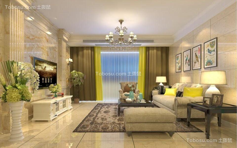 5万预算130平米三室两厅装修效果图