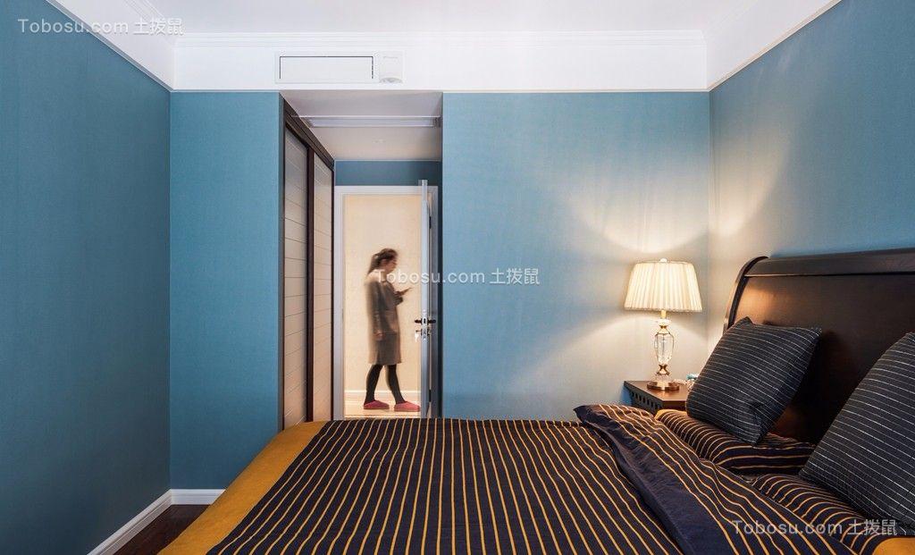 卧室米色榻榻米美式风格装饰设计图片