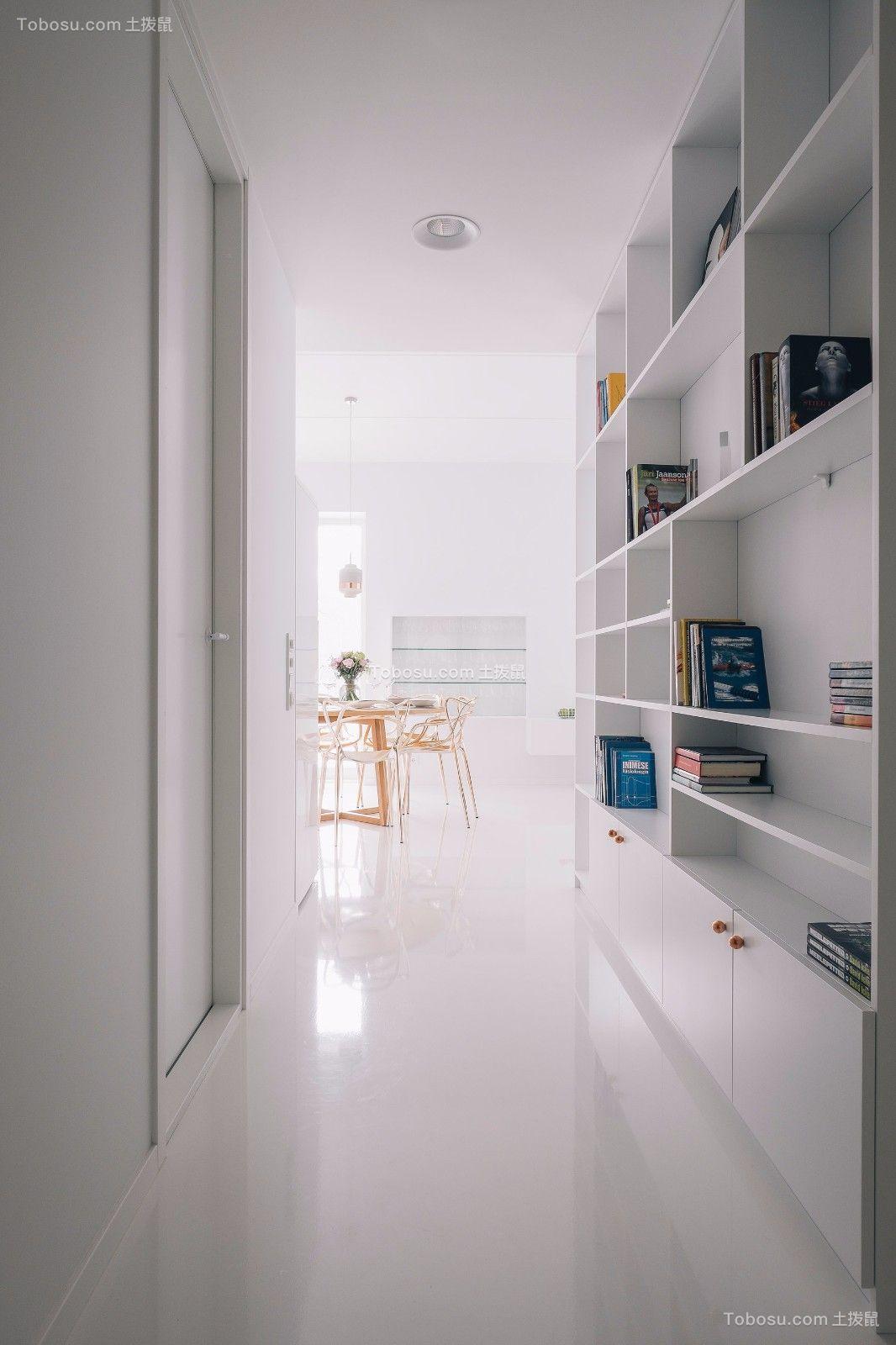 玄关白色鞋柜现代简约风格装饰设计图片
