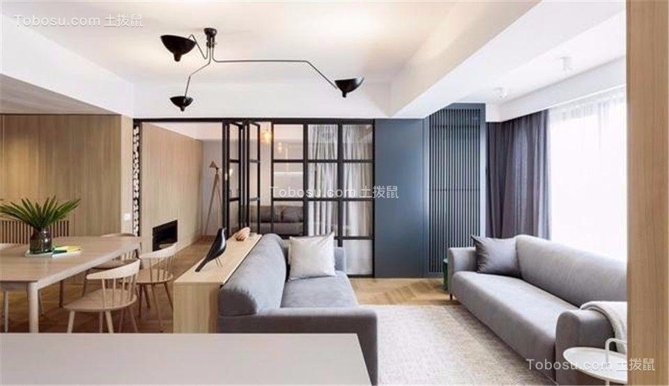 128平米三居室现代简约风格装修效果图