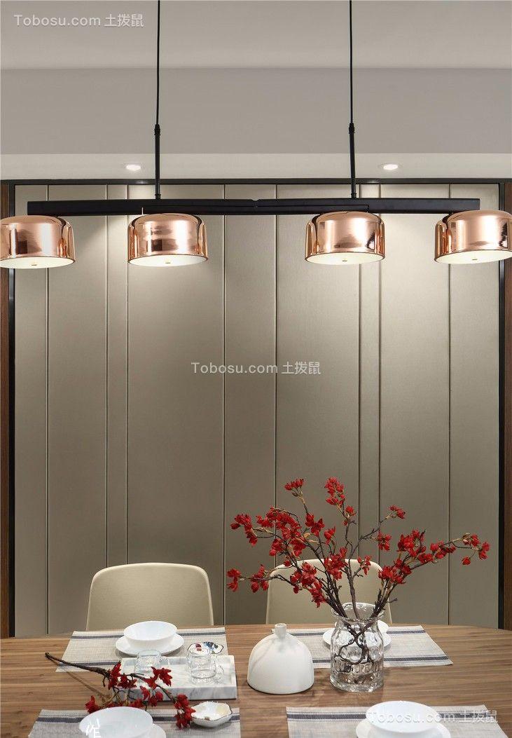 餐厅黑色灯具现代风格装修设计图片