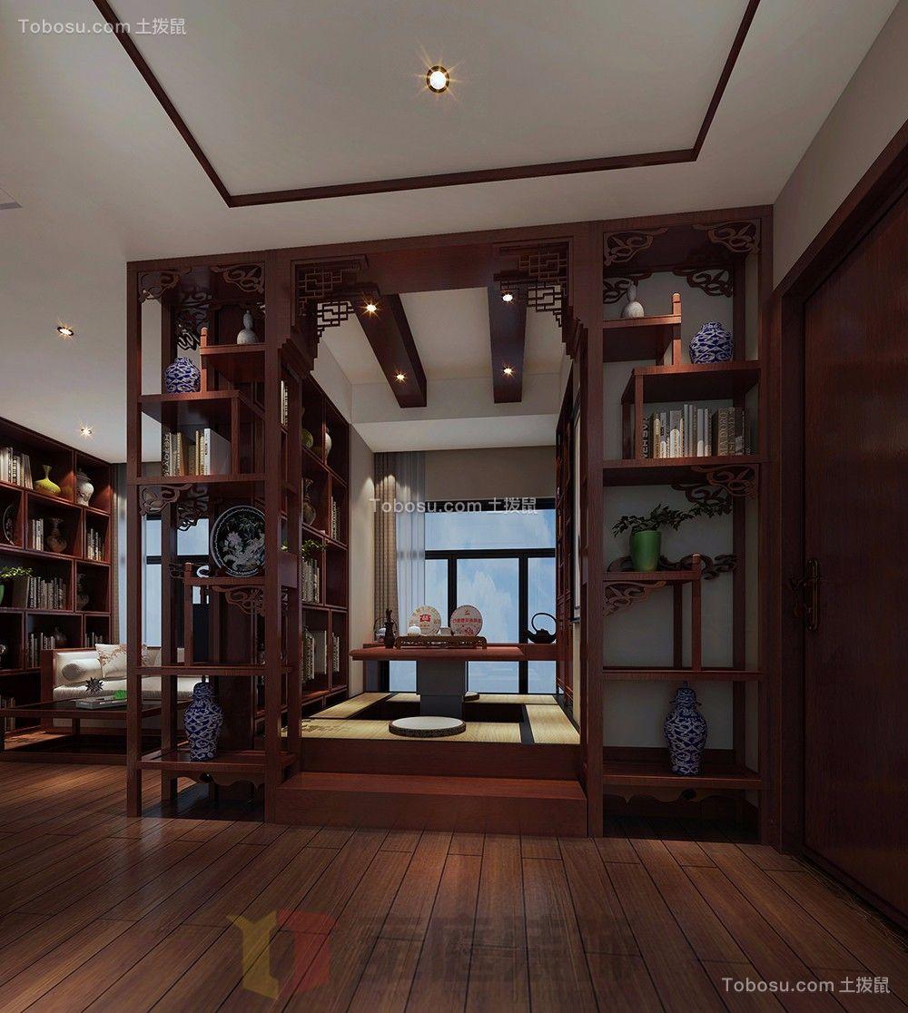 书房米色榻榻米新中式风格装饰图片