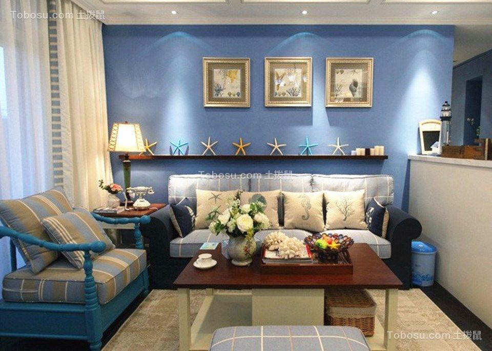 泛海国际樱海园109平米地中海三居室装修效果图