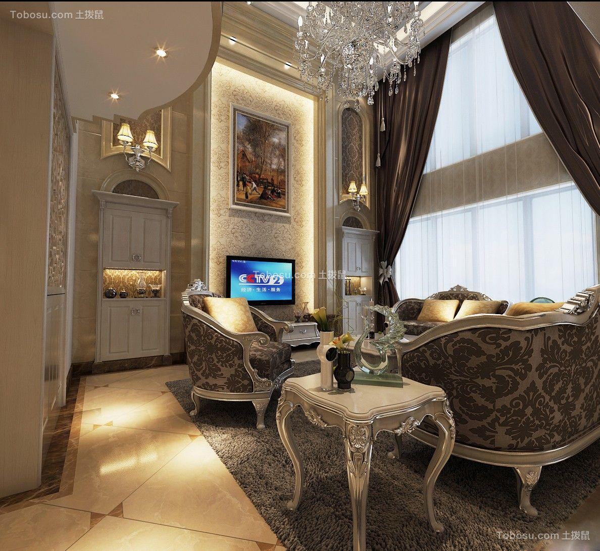 欧式风格260平米复式新房装修效果图
