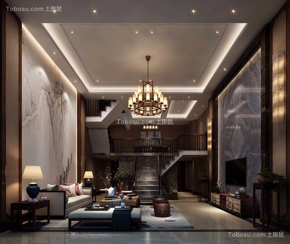 973平米六房新中式别墅装修效果图
