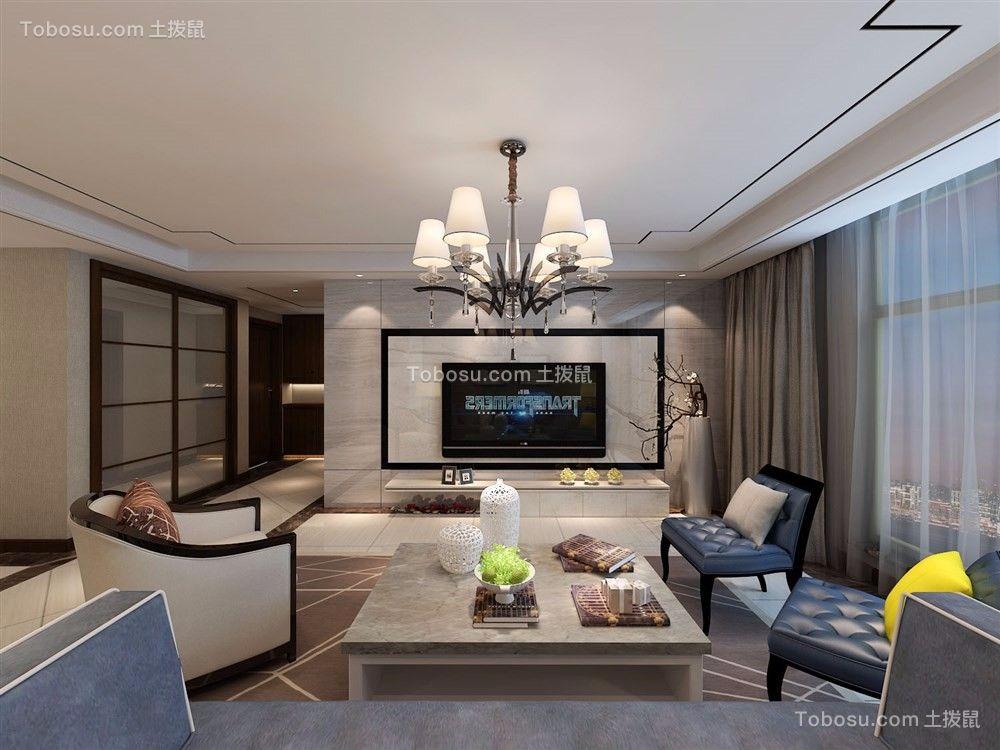 客厅米色背景墙现代风格装潢设计图片