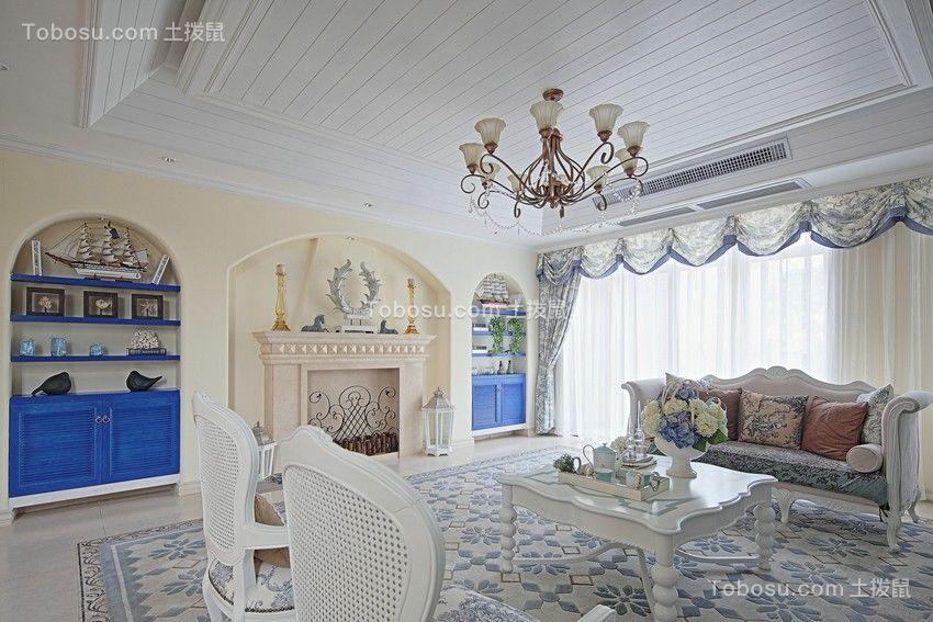 130平米地中海风格三居室装修效果图