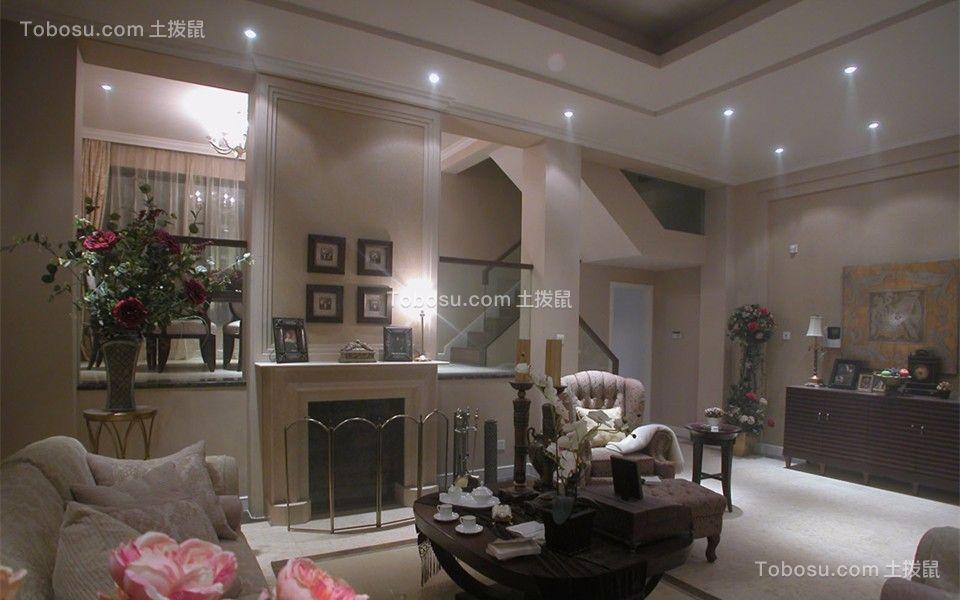 客厅 茶几_简欧风格80平米跃层室内装修效果图