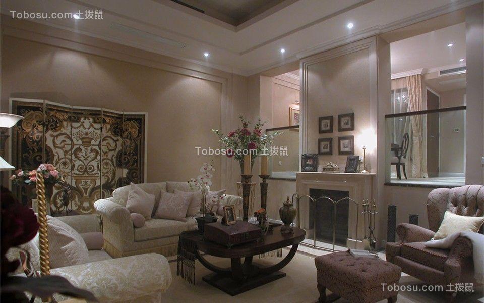 客厅 沙发_简欧风格80平米跃层室内装修效果图