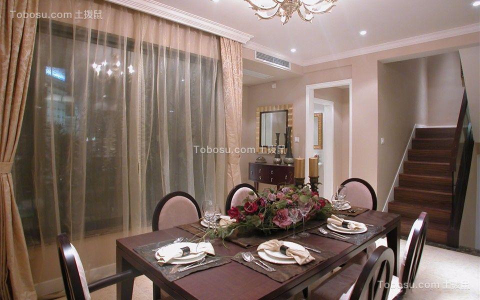 餐厅 餐桌_简欧风格80平米跃层室内装修效果图