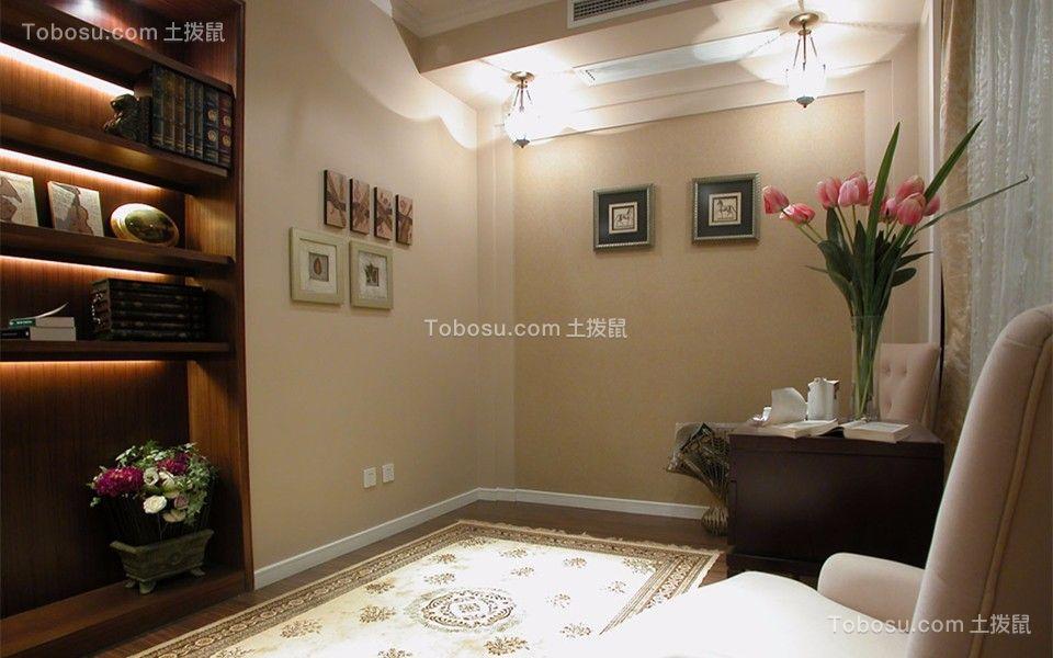 书房 照片墙_简欧风格80平米跃层室内装修效果图