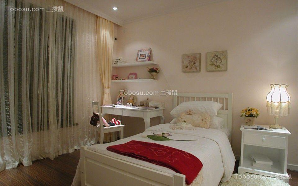 卧室 床_简欧风格80平米跃层室内装修效果图