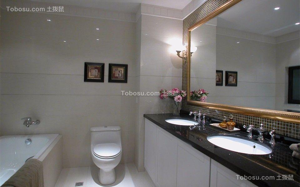 卫生间 洗漱台_简欧风格80平米跃层室内装修效果图