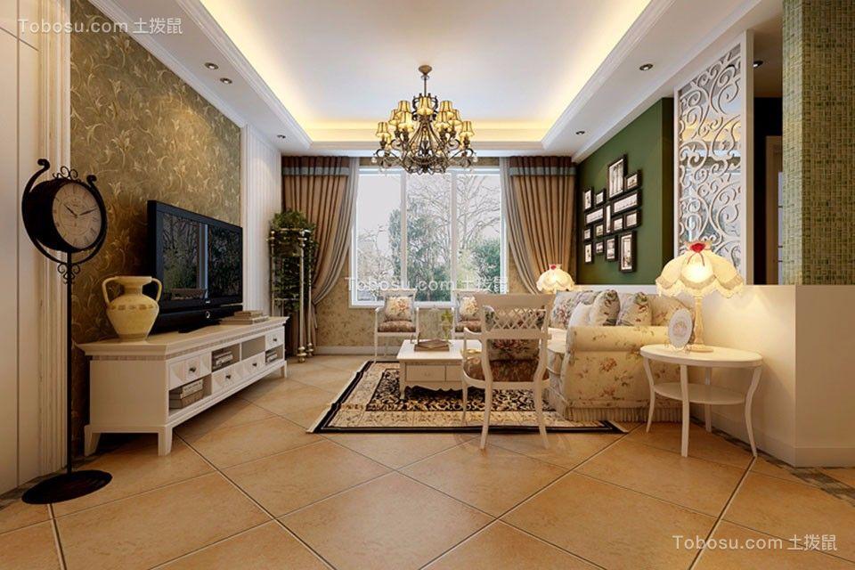 19万预算119平米三室两厅装修效果图