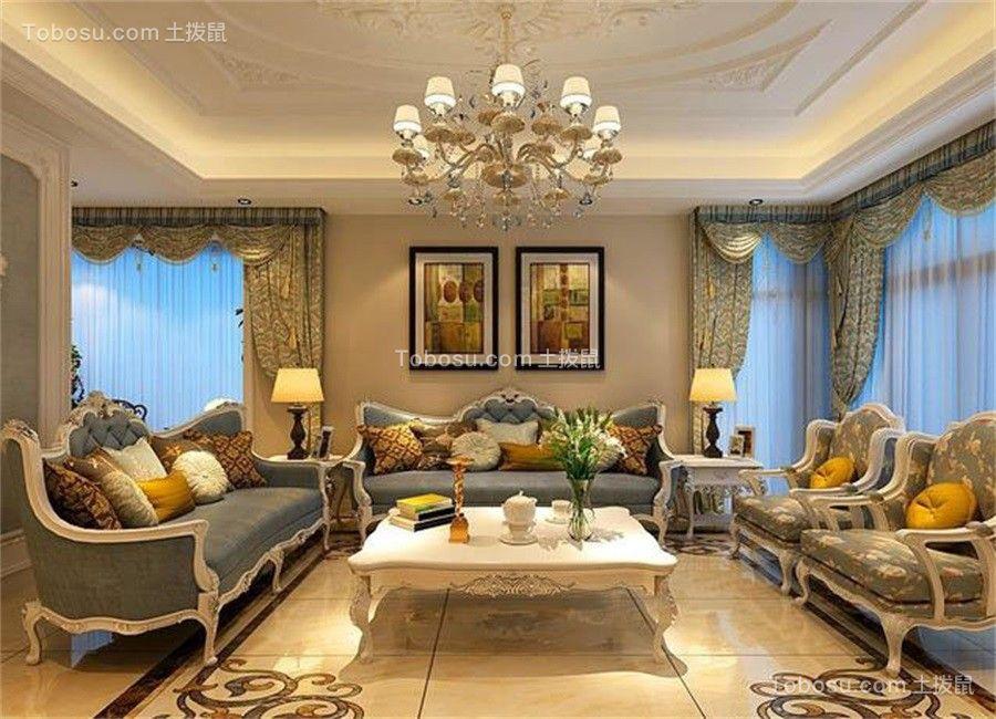 152平米法式新古典四居室装修效果图