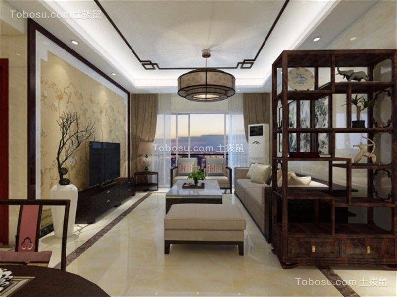 越秀星汇云城160平米中式风格三居室装修效果图