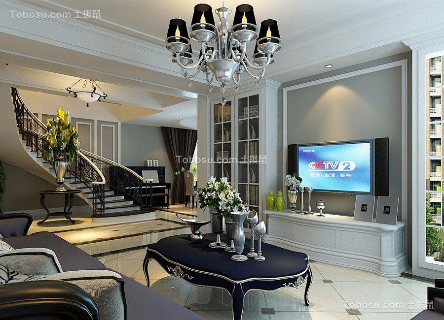 欧式风格110平米三室两厅新房装修效果图