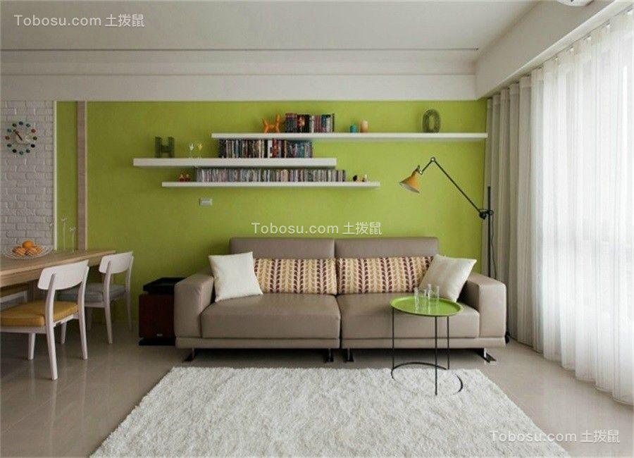 66平米现代风格两居室装修效果图
