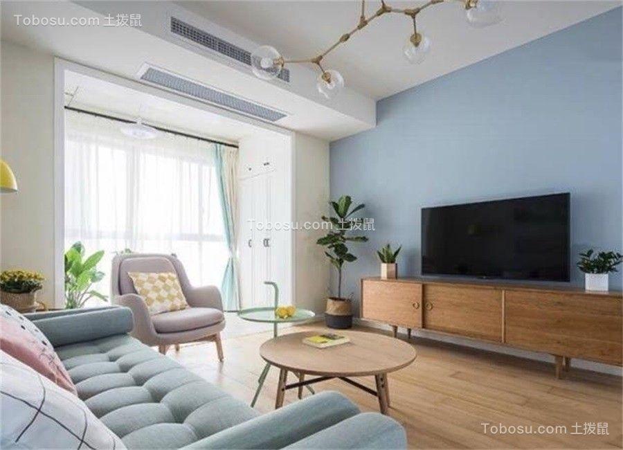 78平米北欧风格两居室装修效果图