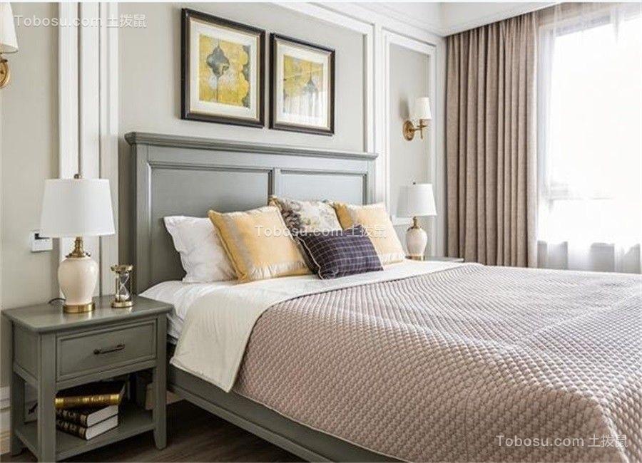 卧室绿色照片墙美式风格装修效果图