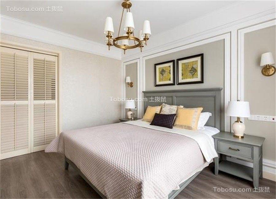 卧室绿色床美式风格装饰效果图