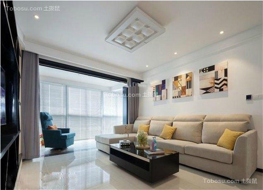 131平米现代简约风格三居室装修效果图