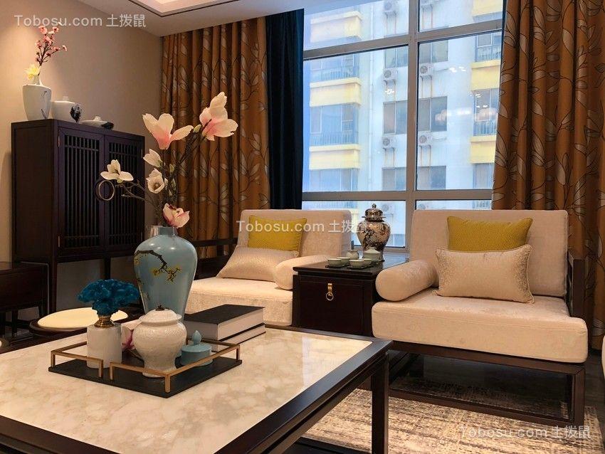 110平米中式风格三居室装修效果图