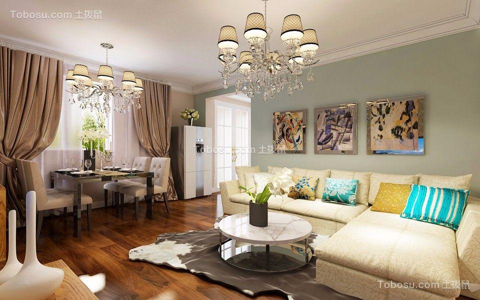 客厅米色沙发简约风格效果图