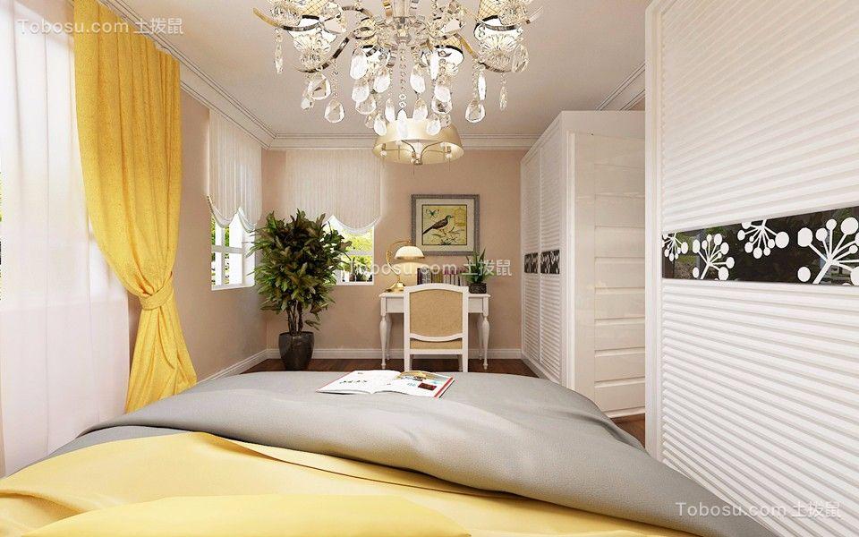 卧室白色衣柜简约风格装潢效果图