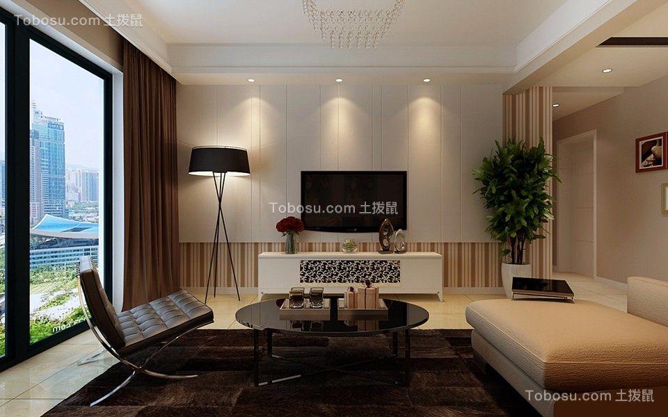 6.9万预算78平米两室两厅装修效果图