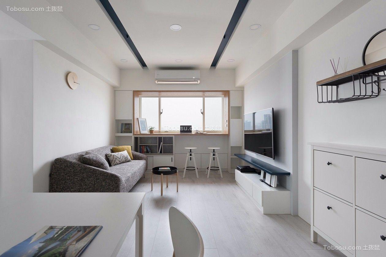 北欧风格28平米一室一厅新房装修效果图