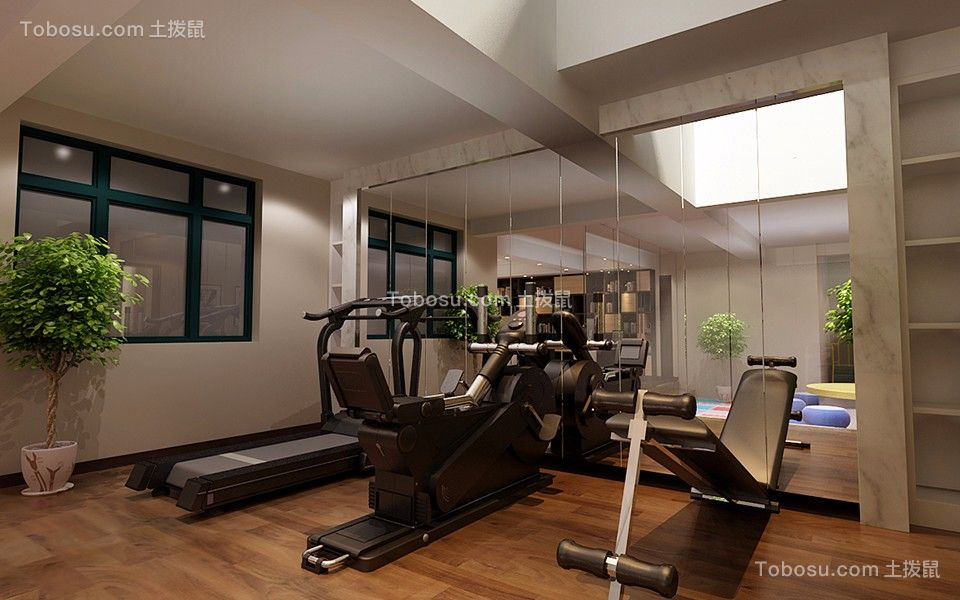 2019现代健身房装修图 2019现代地板砖装修设计