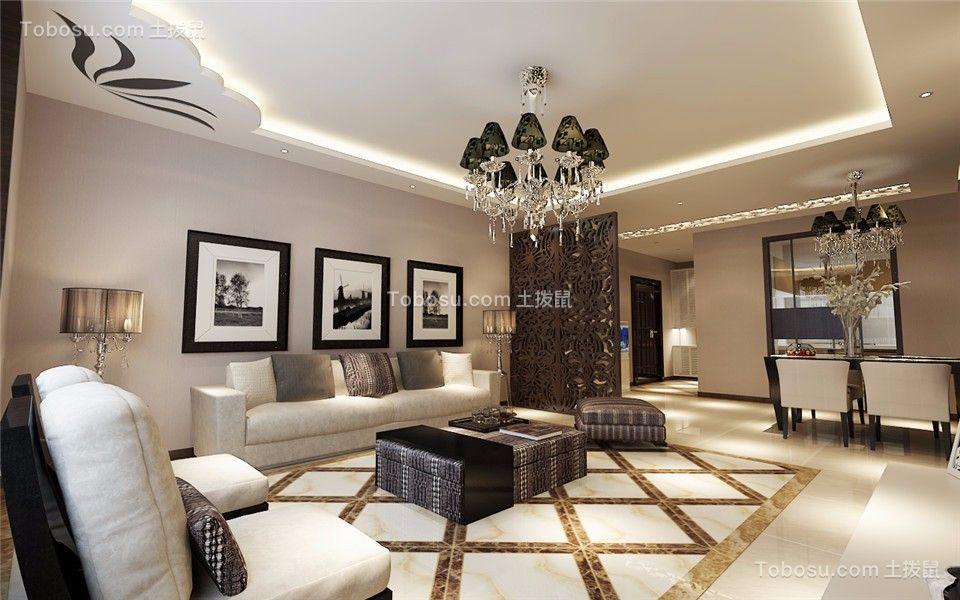 120平新中式风格三居室住宅装修效果图