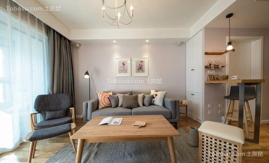 奥园盘龙壹号现代风格77平三居室装修效果图
