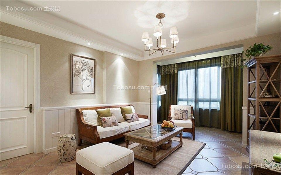 125平米美式风格三居室装修效果图