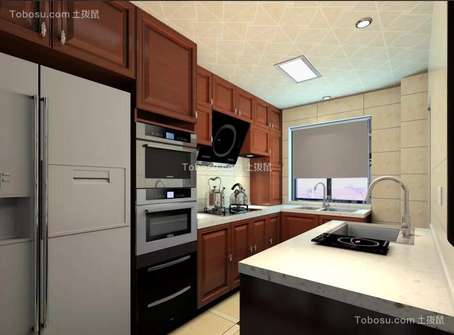 厨房米色吊顶新中式风格装修设计图片