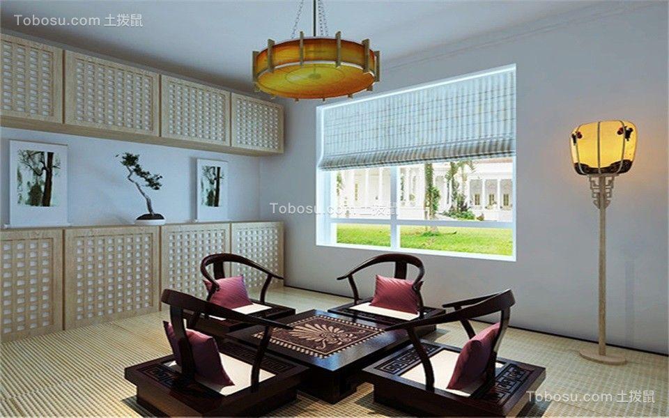 起居室黄色榻榻米现代简约风格装潢设计图片