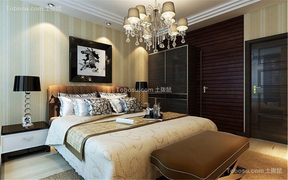 卧室咖啡色床现代简约风格效果图