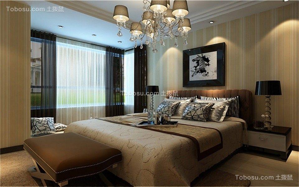 卧室咖啡色床现代简约风格装饰效果图