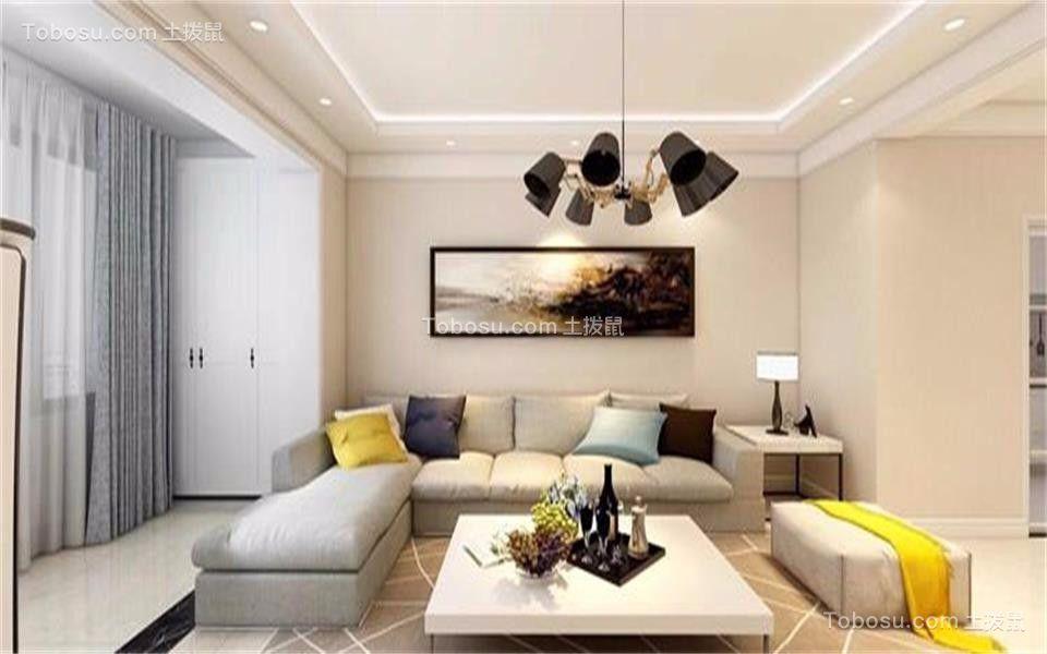 简约风格96平米两室两厅新房装修效果图