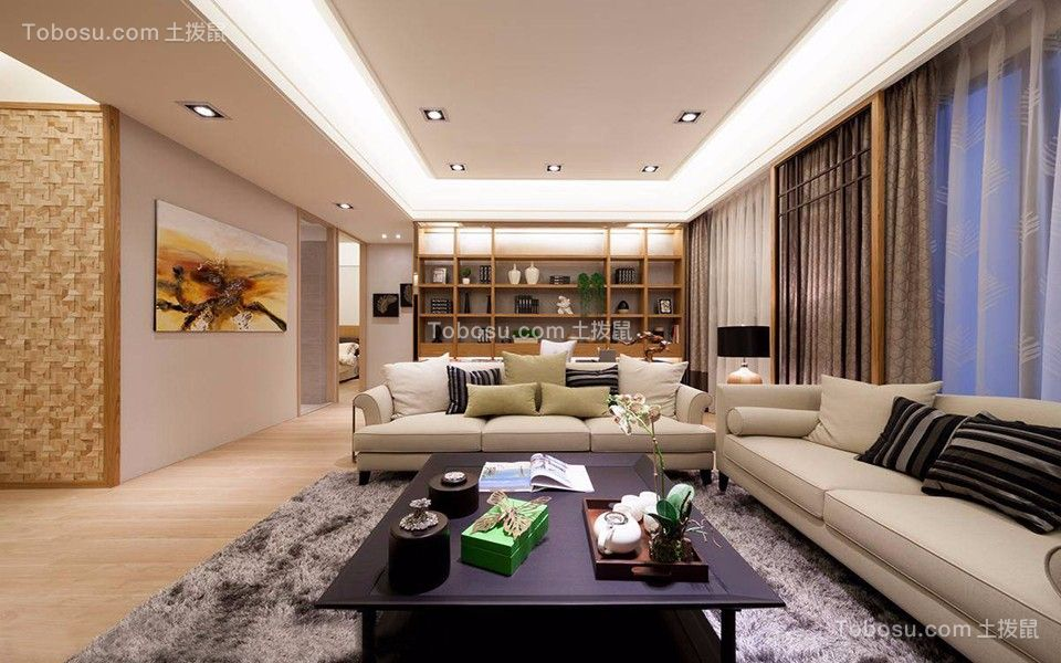 17万预算136平米三室两厅装修效果图