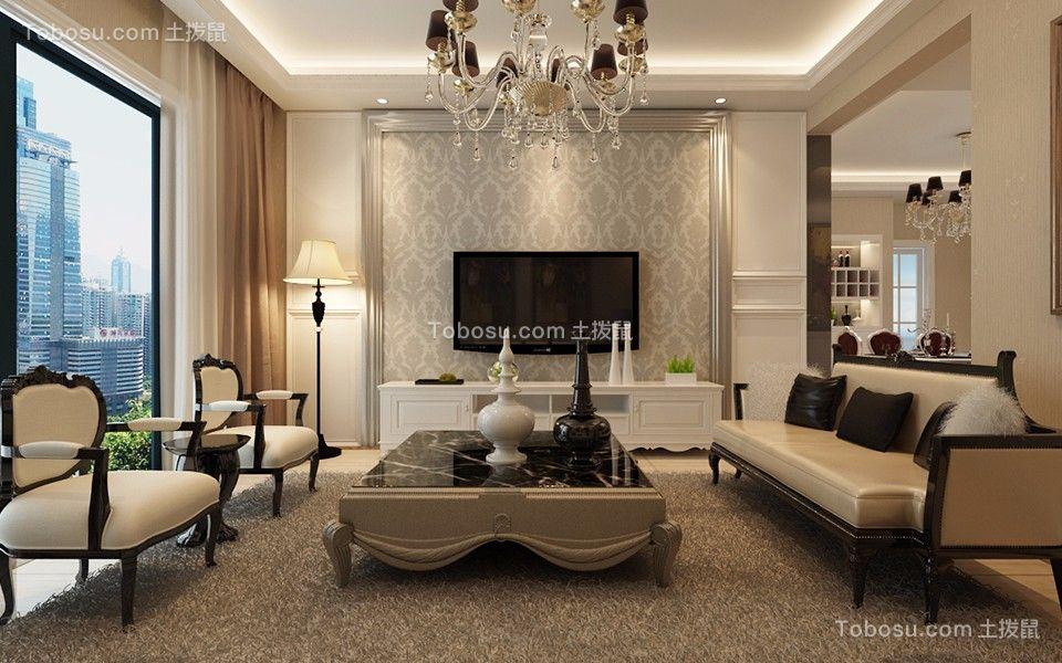 15.8万预算112平米三室两厅装修效果图