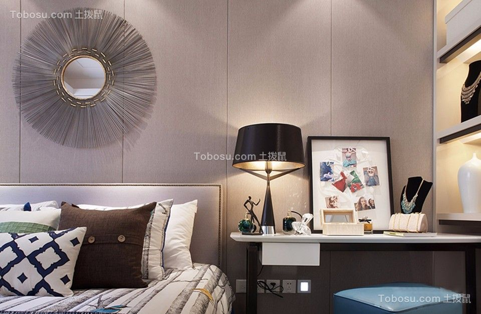 卧室白色书桌现代风格装修效果图