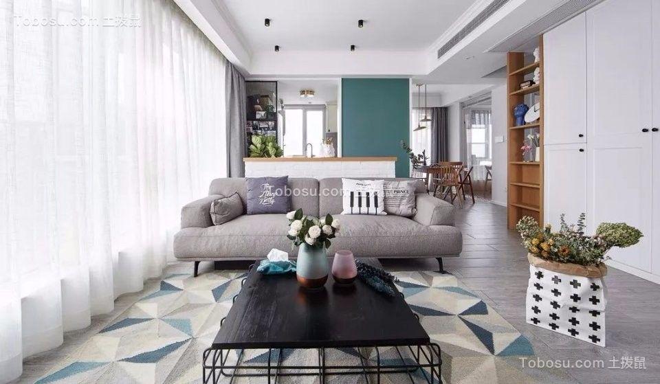 北欧风格90平米一居室新房装修效果图