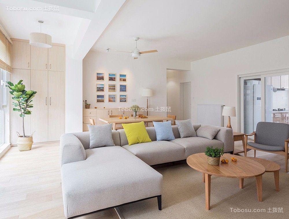 客厅沙发日式风格装潢效果图