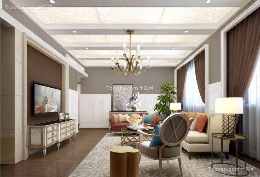 华埔国际设计安河小区186平混搭风格大户型装修效果图