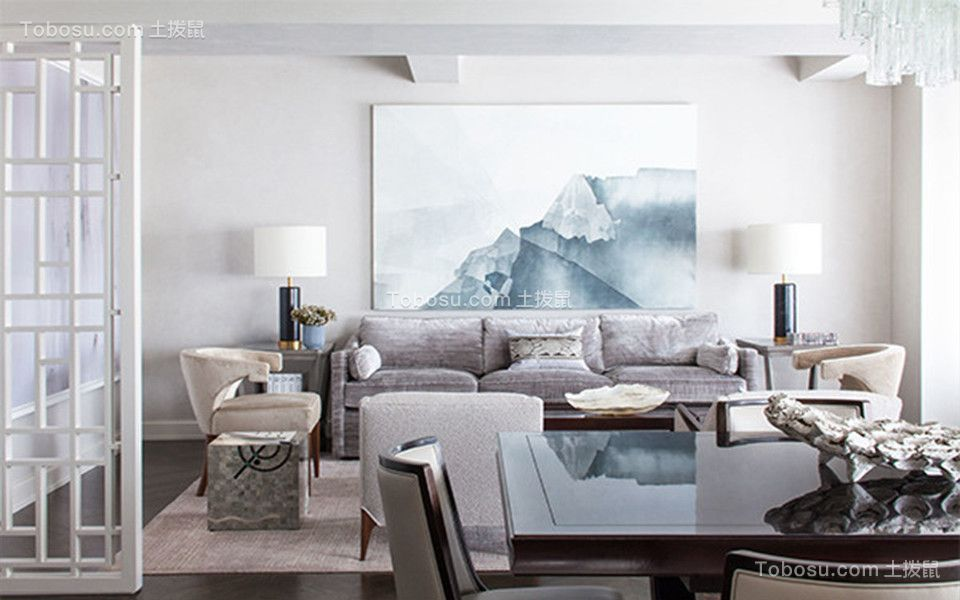 双发东城印象70平米二居室现代简约风格装修案例