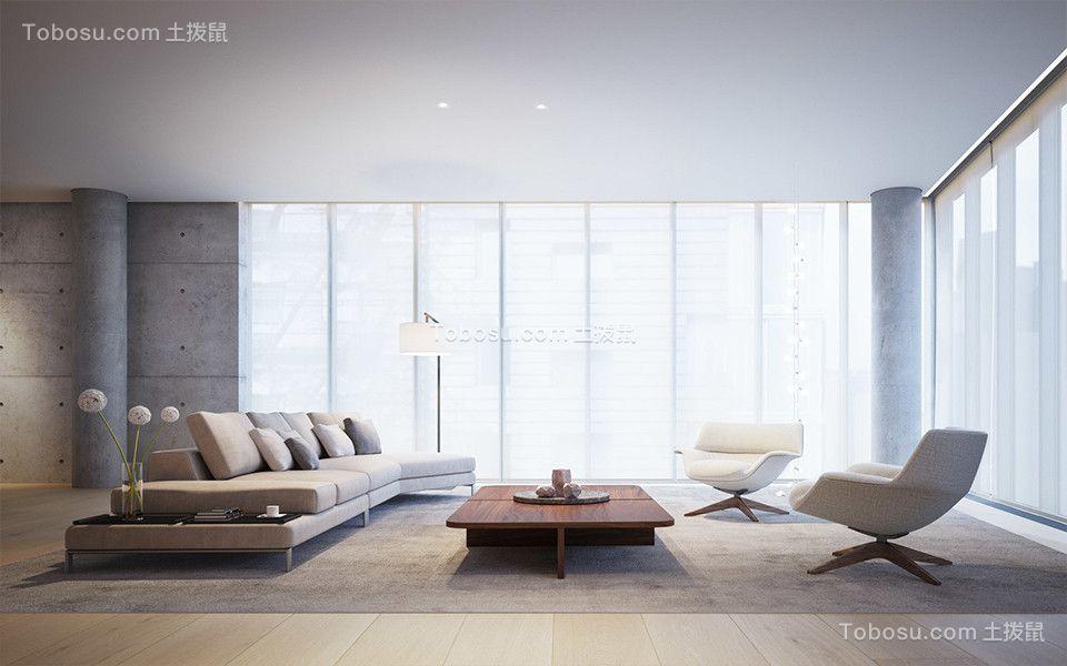 70平米二居室现代简约风格装修效果图