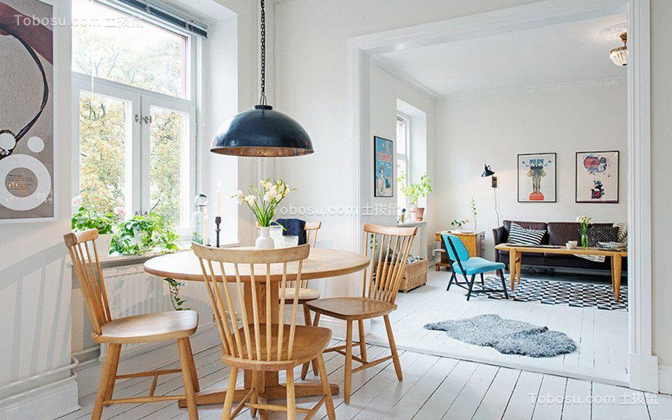 90平米二居室现代简约风格装修效果图