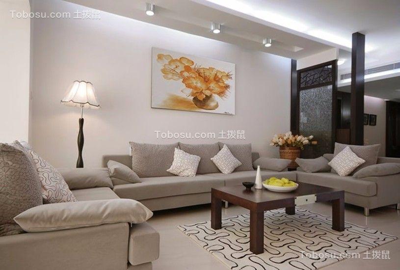 保利金香槟简约风格71平三居室装修效果图